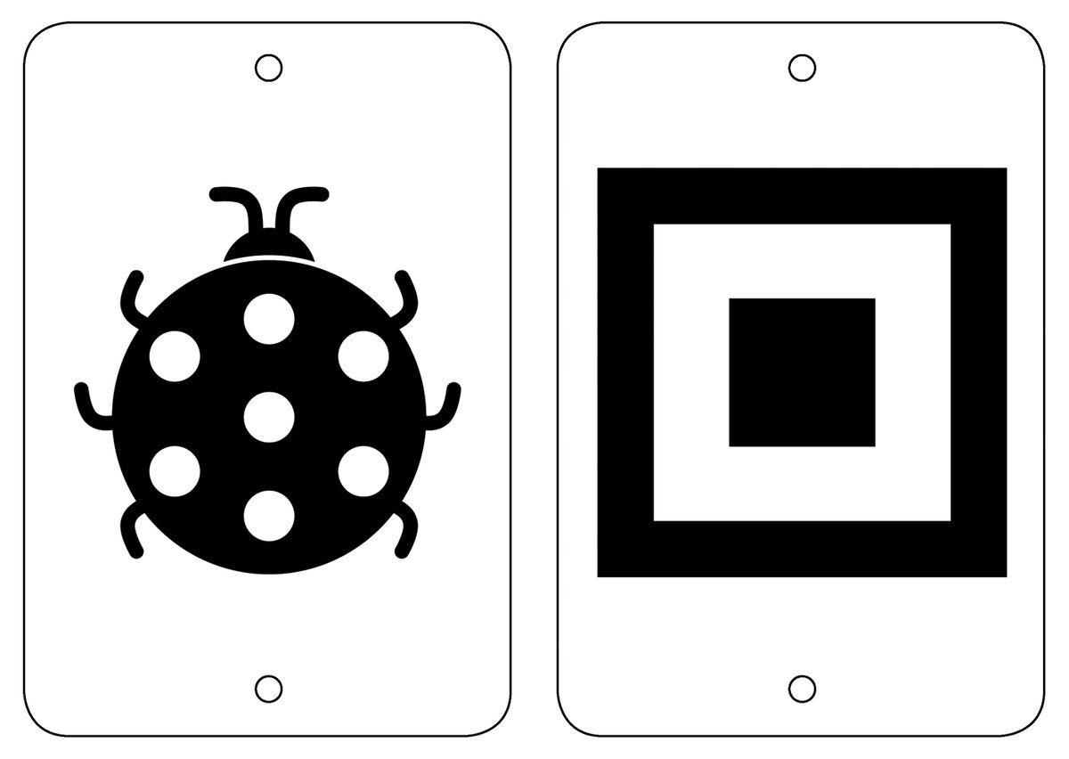 Росмэн Обучающие карточки Black&White Формы и фигуры
