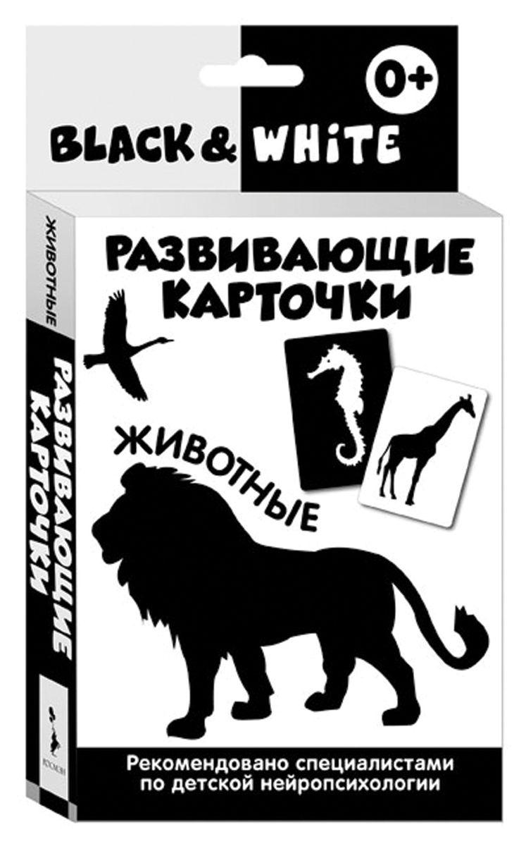 Росмэн Обучающая игра Black & White Животные29964Невероятно полезная и стильная игрушка - прекрасное дополнение развивающей среды для вашего малыша. Активное развитие зрительного восприятия и интеллекта с первых месяцев жизни. Для любящих родителей, которые ответственно и с удовольствием подходят к вопросу воспитания своего ребенка! В наборе 16 чёрно-белых карточек по теме: Животные, а также вкладыш с инструкцией для родителей. Разработаны при участии детских нейропсихологов. Оптимальные для детей раннего возраста контрастные изображения на черном или белом фоне. Одновременно тренируют остроту зрения и знакомят малыша с первыми понятиями окружающего мира. Очень плотный белый картон, скругленные уголки. В каждой карточке имеются специальные прорези для развешивания над кроваткой, в манеже или у пеленального столика. Играя с карточками, малыш не только тренирует зрительное восприятие, но и активно развивает мышление с первых недель жизни!