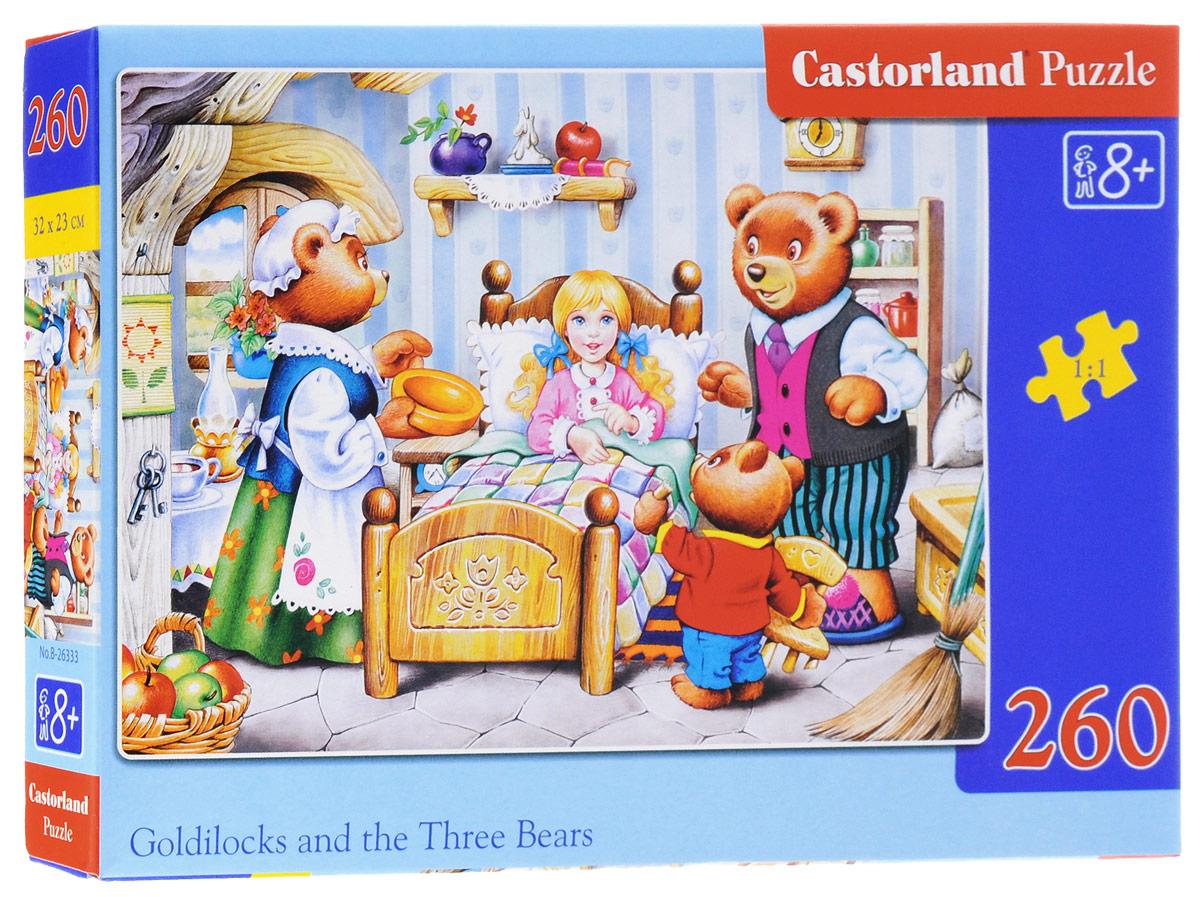 Castorland Пазл Сказка Златовласка и три медведяB-26333Пазл Castorland Сказка. Златовласка и три медведя обязательно придется по душе всем любителям сказок. Собрав этот пазл, включающий в себя 260 элементов, вы получите красочную картинку с изображением персонажей известной сказки. Пазлы - замечательная развивающая игра для детей. Собирание пазла развивает у ребенка мелкую моторику рук, тренирует наблюдательность, логическое мышление, знакомит с окружающим миром, с цветами и разнообразными формами, учит усидчивости и терпению, аккуратности и вниманию.