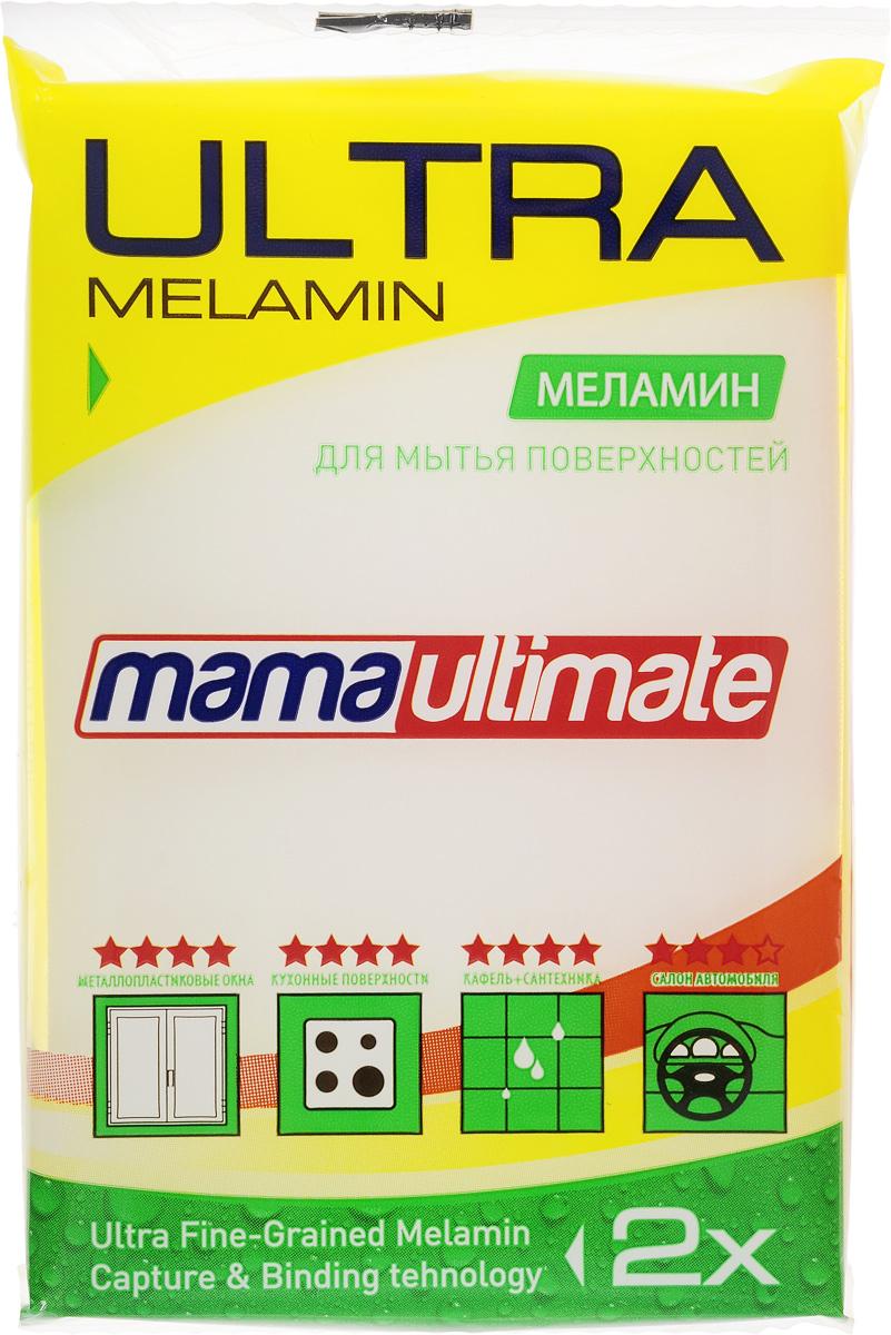 Губка для уборки Mama Ultimate, 11 х 7 х 3 см886729Меламиновая губка Mama Ultimate обладает высокой очищающей способностью. Эффективно устраняет жир, известковый налет, накипь, застарелую грязь, пригоревшие остатки пищи, следы от краски и прочие сложные загрязнения. Губка не оставляет следов, разводов и царапин. Не подходит для мытья посуды.