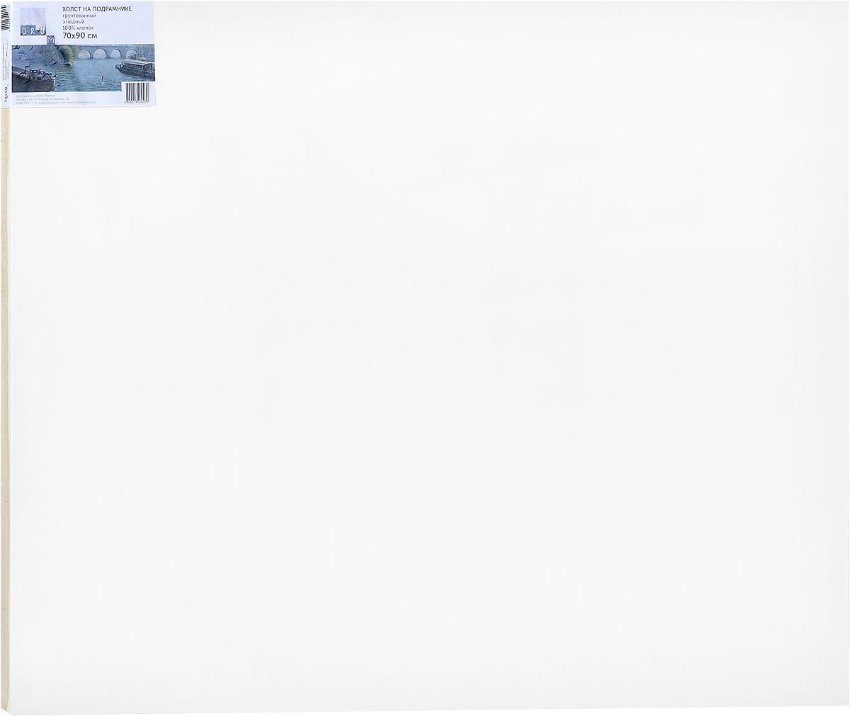 Холст ArtQuaDram Этюдный на подрамнике, грунтованный, 70 х 90 смТ0015362Холст на деревянном подрамнике ArtQuaDram Этюдный изготовлен из 100% натурального хлопка. Подходит для профессионалов и художников. Холст не трескается, не впитывает слишком много краски, цвет краски и качество не изменяются. Холст идеально подходит для масляной и акриловой живописи.
