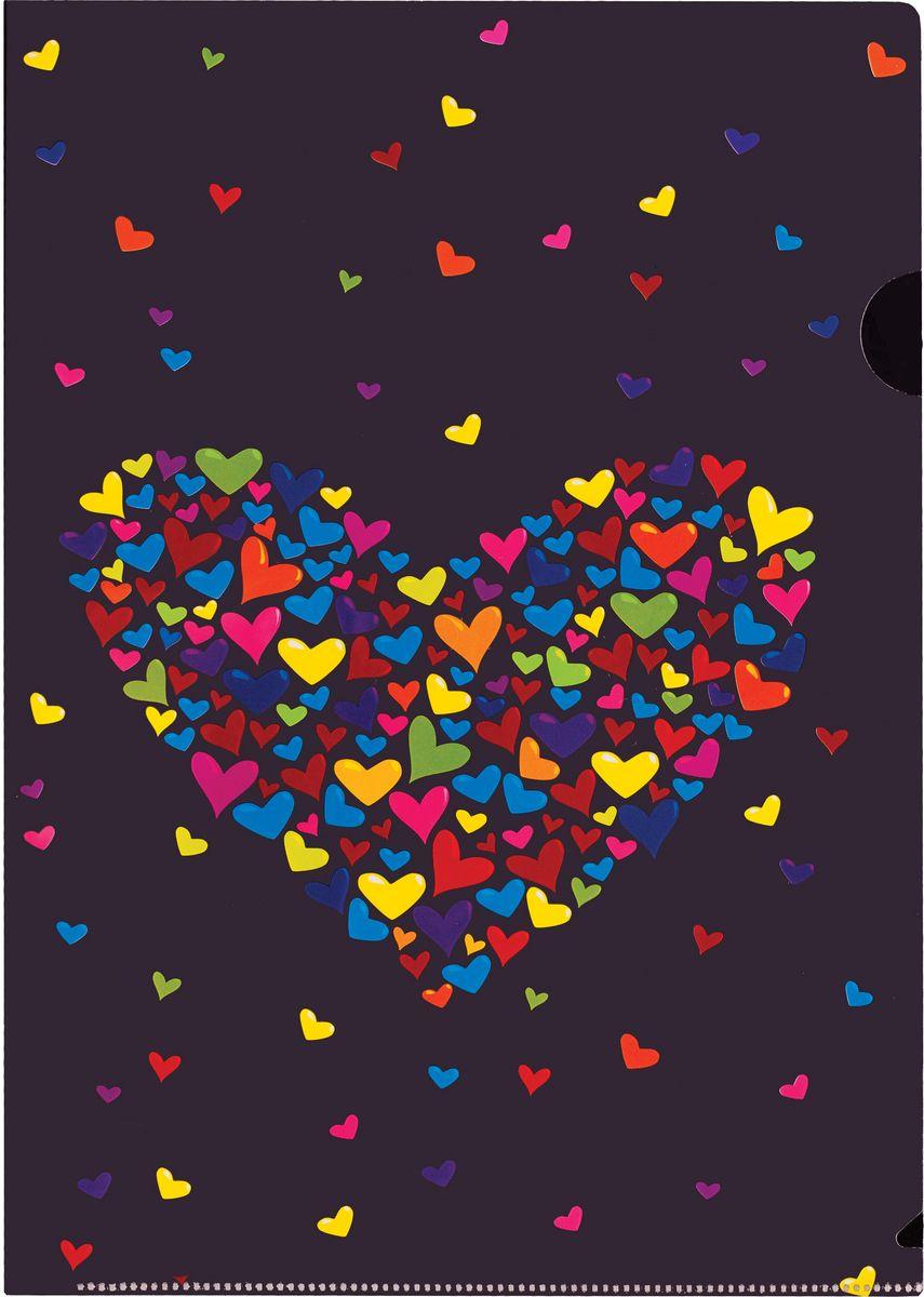 Centrum Папка-уголок Сердце84555Папка-уголок Centrum Сердце - это удобный и практичный инструмент, предназначенный для хранения и транспортировки рабочих бумаг и документов формата А4. Папка изготовлена из плотного глянцевого пластика, оформлена красочным изображением красивых сердечек. Папка-уголок - это незаменимый атрибут для студента, школьника, офисного работника. Такая папка надежно сохранит ваши документы и сбережет их от повреждений, пыли и влаги.