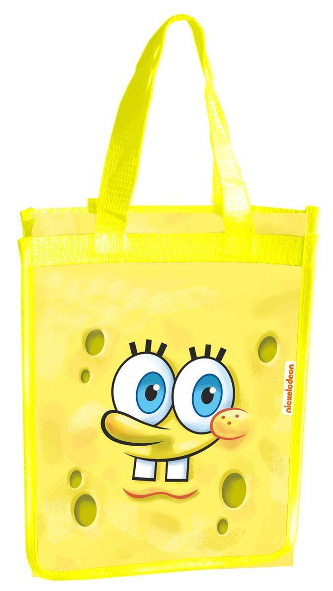 Centrum Школьная сумка Губка Боб85259Сумка ГУБКА БОБ, пластик, ручки и боковые вставки-полиэстер, размер 33*25*12 см.