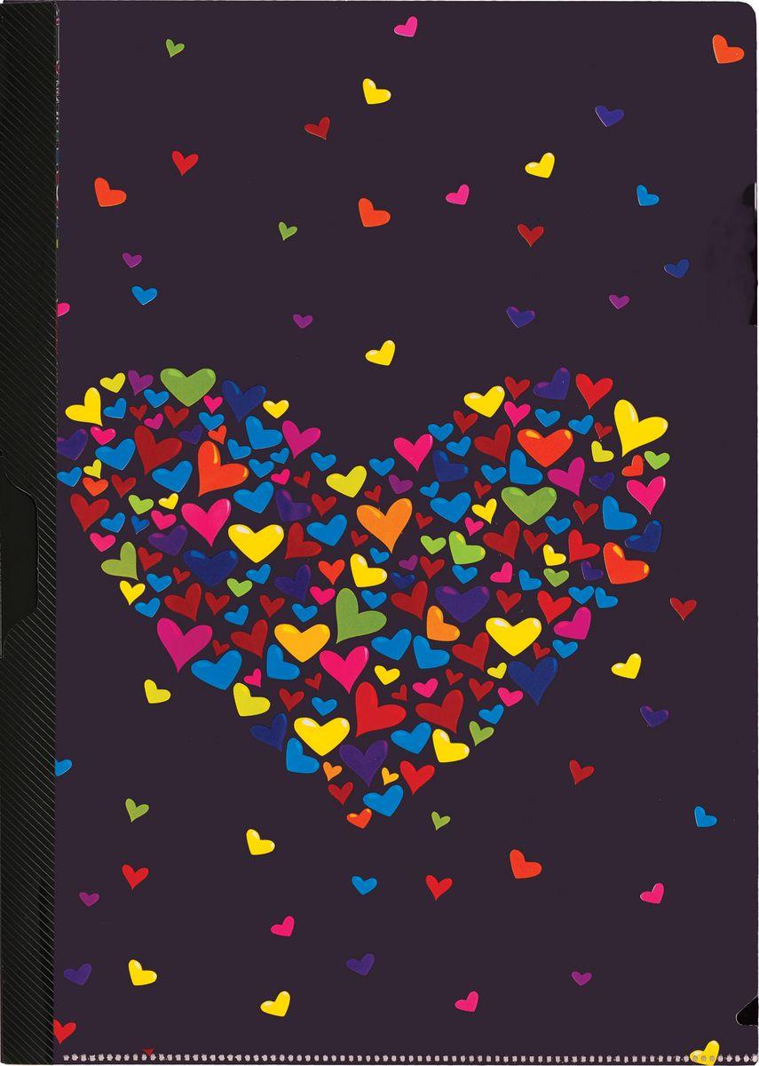 Centrum Папка с клипом Сердце85458Папка с клипом Centrum Сердце станет вашим верным помощником дома и в офисе. Это удобный и функциональный инструмент, предназначенный для хранения и транспортировки рабочих бумаг и документов формата А4. Папка изготовлена из прочного высококачественного пластика, оснащена боковым клипом, позволяющим фиксировать неперфорированные листы. Уголки имеют закругленную форму, что предотвращает их загибание и помогает надолго сохранить опрятный вид обложки. Папка оформлена рисунком в виде сердечек. Папка - это незаменимый атрибут для любого студента, школьника или офисного работника. Такая папка надежно сохранит ваши бумаги и сбережет их от повреждений, пыли и влаги.