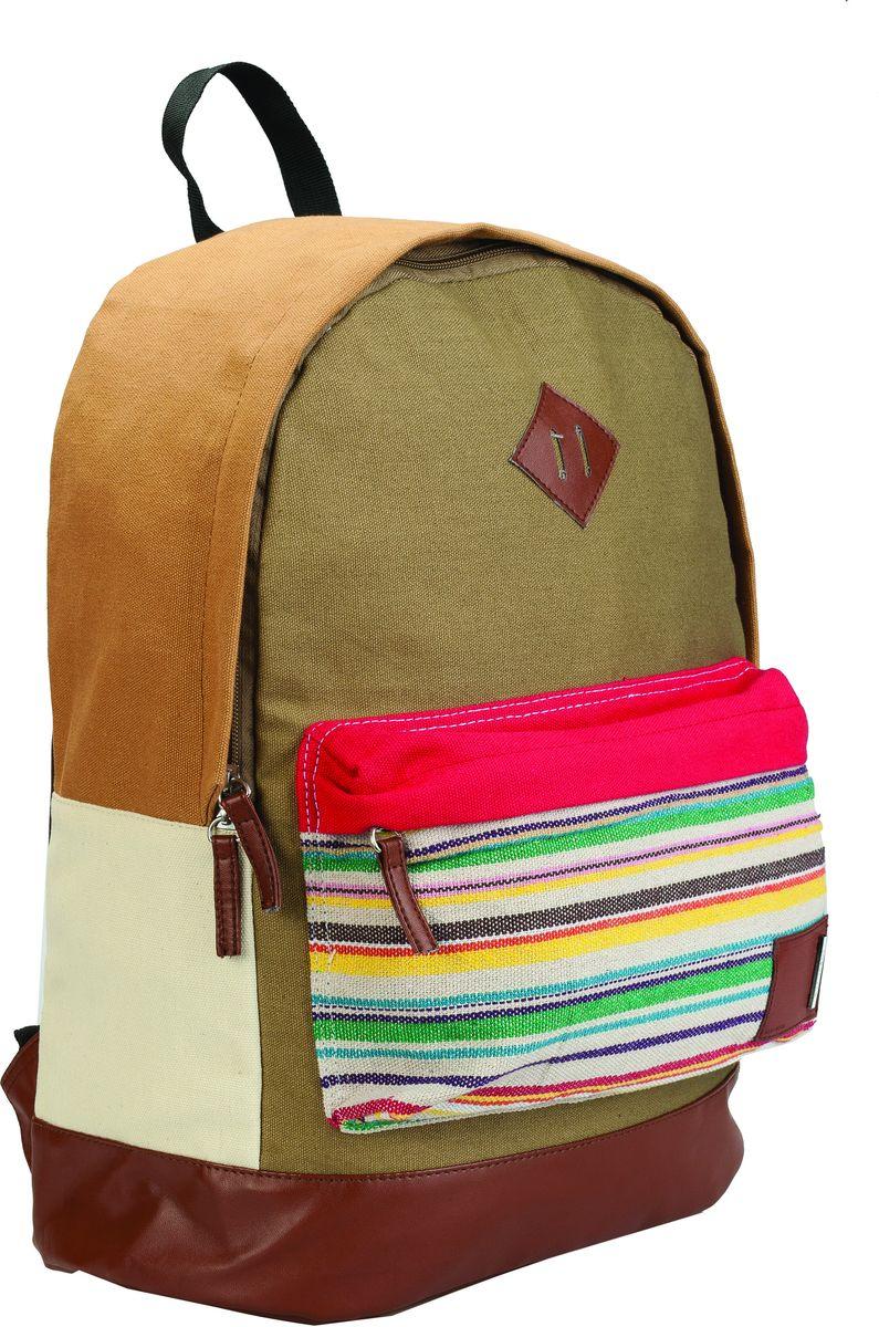 Centrum Школьный ранец 8666486664Рюкзак молодежный, 41*29*17 см., 1 отделение, внешний карман на молнии, ручка-петля, хлопок 100%