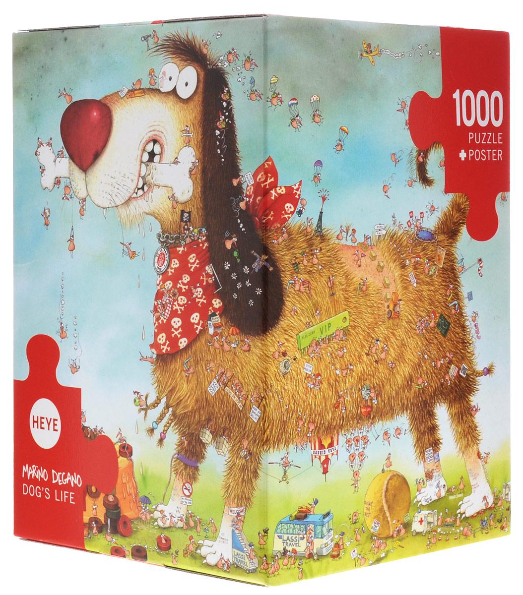 HEYE Пазл Собачья жизнь29491Пазл HEYE Собачья жизнь обязательно придется по душе всей вашей семье. Собрав этот пазл, включающий в себя 1000 элементов, вы получите юмористическую картинку о жизни собаки. Пазлы - прекрасное антистрессовое средство для взрослых и замечательная развивающая игра для детей. Собирание пазла развивает у ребенка мелкую моторику рук, тренирует наблюдательность, логическое мышление, знакомит с окружающим миром, с цветами и разнообразными формами, учит усидчивости и терпению, аккуратности и вниманию. Собирание пазла - прекрасное времяпрепровождение для всей семьи. К пазлу прилагается постер.