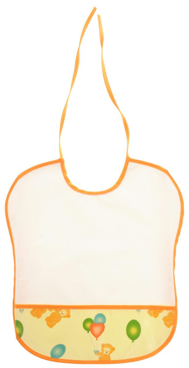 Колорит Нагрудник цвет белый 00680068_белыйНагрудник Колорит изготовлен из клеенки подкладной с ПВХ покрытием. Предохраняет одежду малыша от загрязнений во время кормления. Оснащен нагрудник удобным карманом. Предназначен для многоразового использования, не промокает. Благодаря завязкам вы сможете легко контролировать длину изделия и регулировать размер горловины. Перед началом использования рекомендуется протереть влажной губкой и проветрить в естественных условиях.