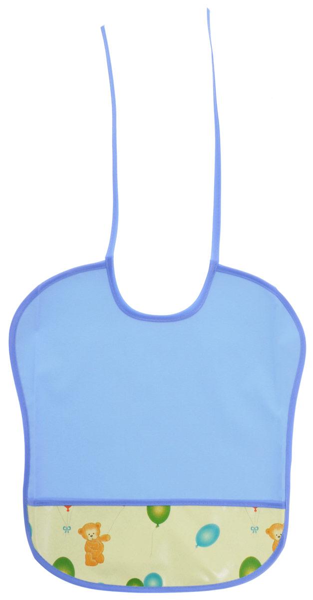 Колорит Нагрудник цвет голубой 0068