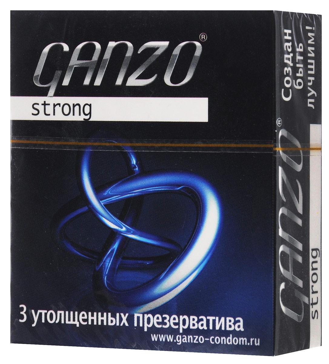 "Ganzo Презервативы ""Strong"", утолщенные, 3 шт"