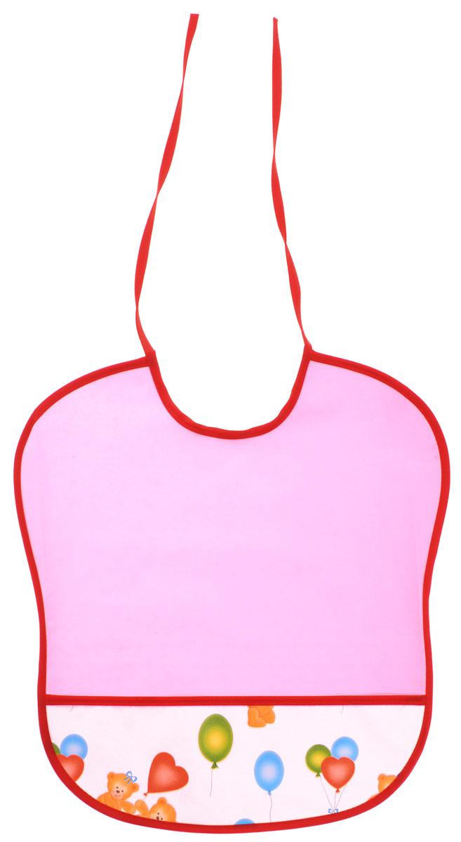 Колорит Нагрудник цвет розовый белый 33 х 33 см0083_розовыйНагрудник Колорит изготовлен из клеенки подкладной с ПВХ покрытием. Нагрудник оснащен удобным карманом. Предназначен для многоразового использования, не промокает, предохраняет от загрязнений во время кормления. Нагрудник на завязках - выбор практичных мамочек, пользоваться таким слюнявчиком можно более длительное время, пока ваш малыш растет, благодаря завязкам вы сможете легко контролировать длину изделия и регулировать размер горловины.