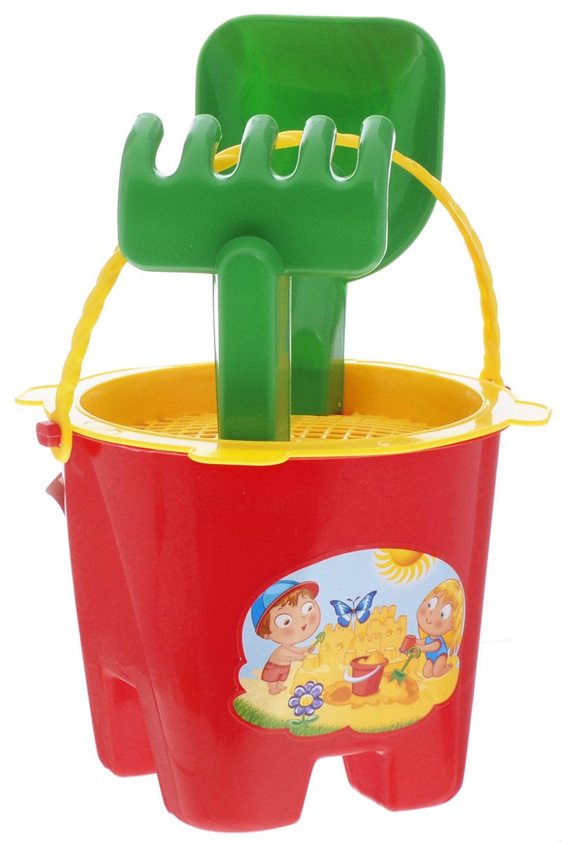 Zebratoys Набор песочный Цветок 4 предмета15-5008-3Набор для игры с песком Zebratoys Цветок привлечет внимание вашего малыша и не позволит ему скучать. Набор предназначен для игры в песочнице, на пляже или во дворе загородного дома. Ударопрочный пластик и качественные красители надолго сохранят внешний вид игрушки и будут радовать ваших детей. В набор входит ведерко с ситом, совок, грабли. С таким набором игры на свежем воздухе принесут вашему малышу одно удовольствие! Порадуйте его таким замечательным подарком! Уважаемые клиенты! Обращаем ваше внимание на ассортимент в цвете товара. Поставка возможна в одном из вариантов нижеприведенных цветов, в зависимости от наличия на складе.