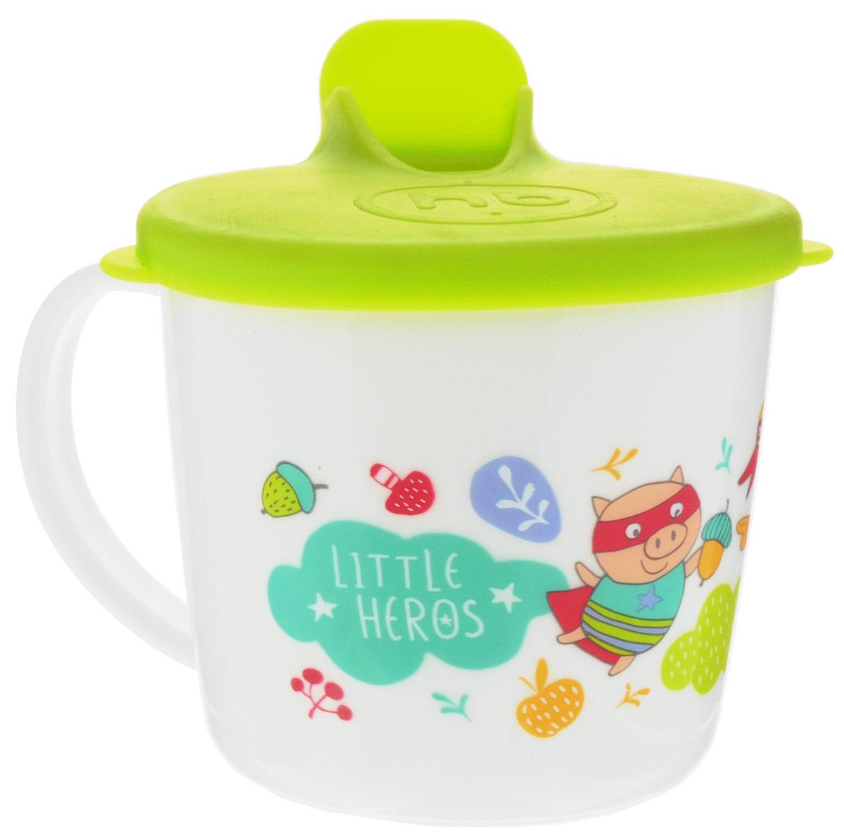 Happy Baby Чашка-поильник от 8 месяцев цвет белый салатовый15010_салатовый, поросенок, утка, лисаЧашка-поильник Happy Baby рекомендована для деток, которые переходят от грудного вскармливания или кормления из бутылочки к кружке. Поильник идеально подходит для малышей. Ребенку будет удобно держать его благодаря ручке. Крышка поильника снабжена носиком для питья, который сделает переход от кормления из бутылочки к питью из чашки более легким и комфортным для ребенка. Поильник украшен яркими изображениями, которые привлекут внимание малыша. Можно использовать в СВЧ печи без крышки. Не содержит бисфенол А.