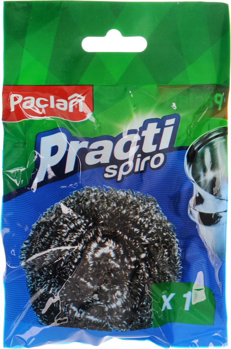 Мочалка для посуды Paclan Spiro, металлическая408141/408140/408110/320387Металлическая мочалка для посуды Paclan Spiro эффективно устраняет сильные загрязнения. Имеет долгий срок службы, не окисляется. Прекрасно справляется с очисткой грилей, барбекю, решеток и других предметов для жарки. Не используйте для мытья посуды с антипригарным покрытием.