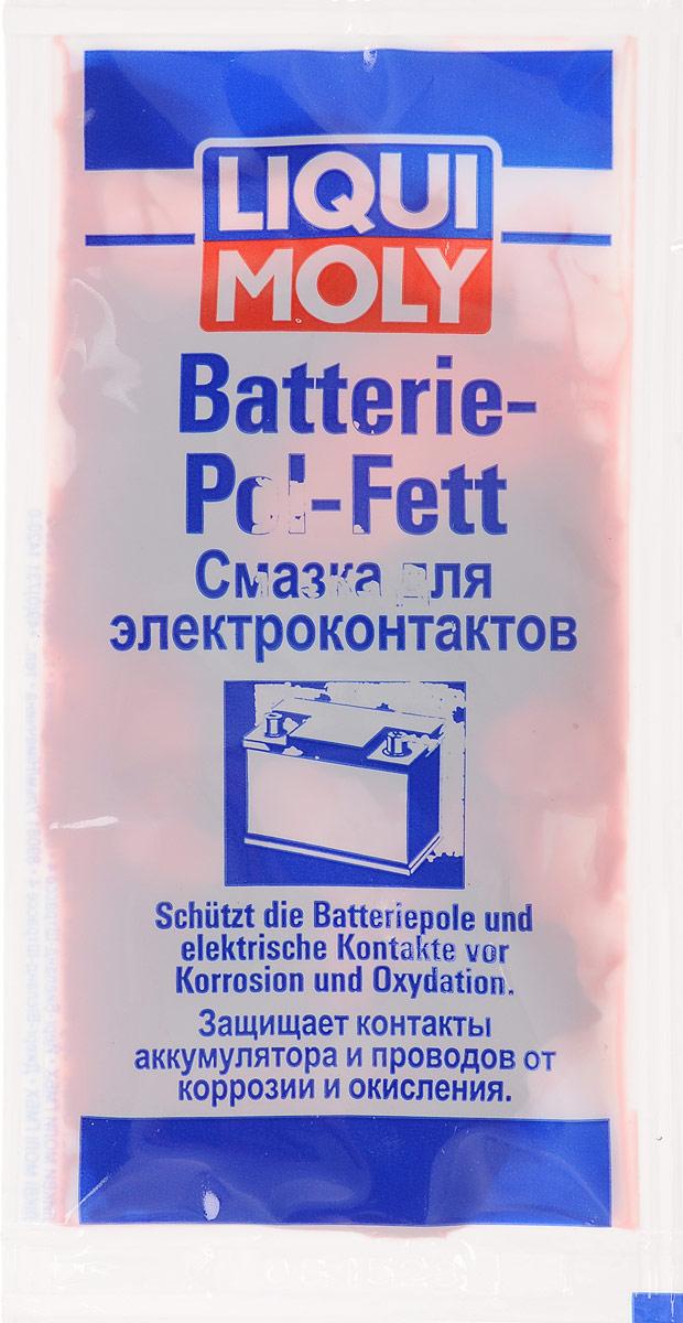 Смазка для электроконтактов LiquiMoly Batterie-Pol-Fett, 10 г8045Смазка LiquiMoly Batterie-Pol-Fett предназначена для защиты контактов и проводов от коррозии, предотвращает повреждение кислотами. Служит для уверенного старта мотора, хорошего освещения и долгой жизни аккумулятора. Состав: нафтеновое базовое масло, парафиновое базовое масло, кальциевое мыло, вода, краситель, ноу-хау компании. Товар сертифицирован.