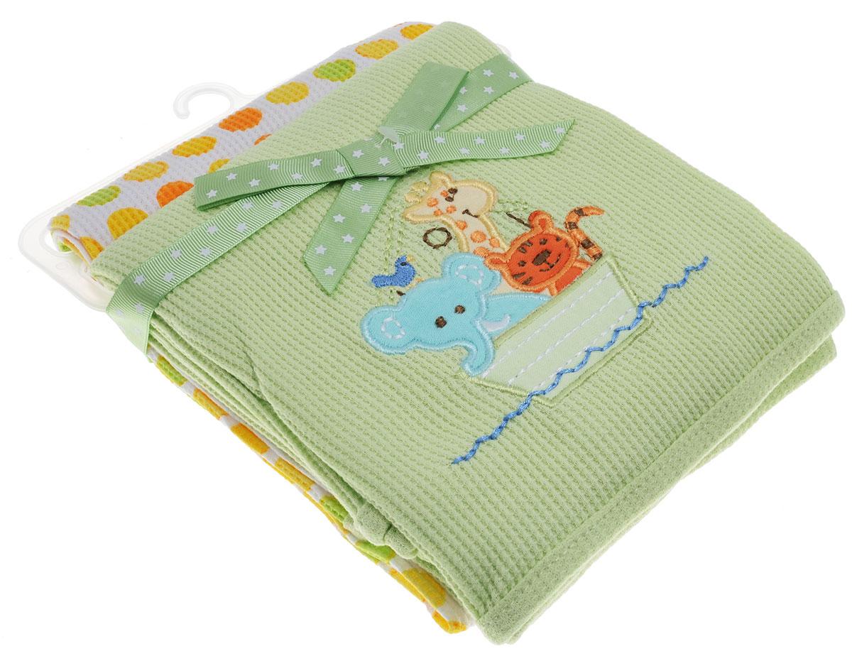 Spasilk Комплект пеленок Животные 76 х 76 см 2 штRB TH 55Трикотажные пеленки Spasilk Животные подходят для пеленания ребенка с самого рождения. Мягкая ткань укутывает малыша с необычайной нежностью. Такая ткань прекрасно дышит, она гипоаллергенна, обладает повышенными теплоизоляционными свойствами и не теряет формы после стирки. Пеленку также можно использовать как легкое одеяло, простынку, полотенце после купания, накидку для кормления грудью. В комплект входят две пеленки. Предварительная стирка обязательна. Стирка при температуре не более 40 °C, гладить при температуре не выше 110 °C. Химчистка запрещена, сушка в барабане при более низкой температуре, отбеливать без хлора.