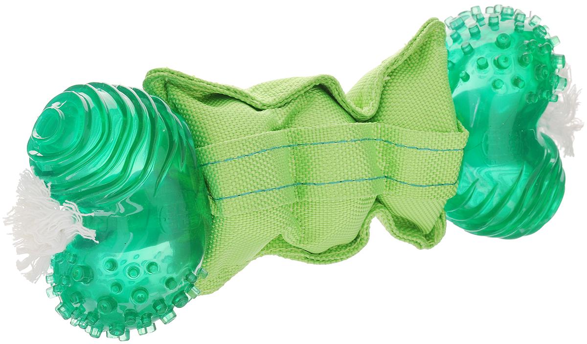 Игрушка для собак Dogit 360° Clean, большая, для ухода за зубами, 24 х 8,5 х 5,5 см72917Игрушка Dogit 360° Clean выполнена из высококачественной синтетической резины в виде косточки с текстильной вставкой. Изделие предназначено для чистки и ухода за зубами для собак крупных пород. Концы игрушки вращаются в пасти на 360° при покусывании. Такая игрушка привлечет внимание вашего любимца и не оставит его равнодушным.