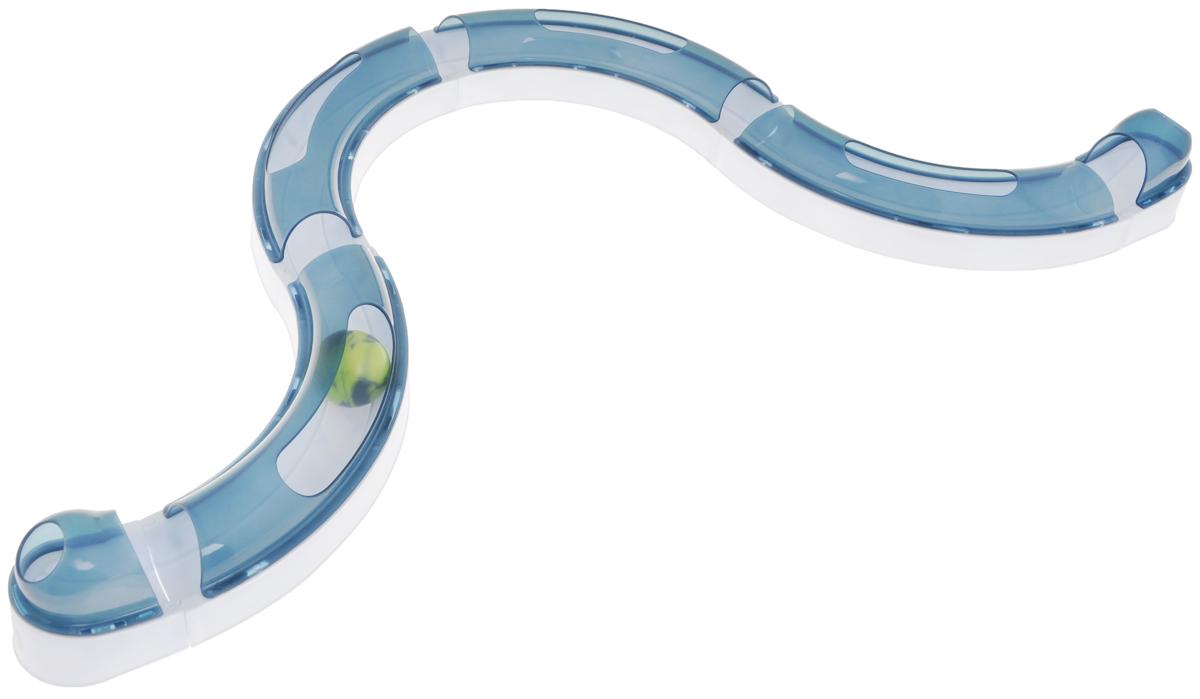 Игрушка для кошек Catit Игровой круг, с обычным шариком50730Игрушка для кошек Catit Игровой круг - это веселая игра с обычным шариком, который нужно поймать. Изделие выполнено из высококачественного пластика. Игрушка состоит из 4 ровных секций, 2 оконечных секций и шарика. Секции можно соединить в круг или змейку. Остается только наблюдать за охотой. Такая игра развивает естественные охотничьи инстинкты и привлекает внимание вашего питомца. Длина секции: 26 см. Ширина секции: 6 см. Диаметр шарика: 4 см.