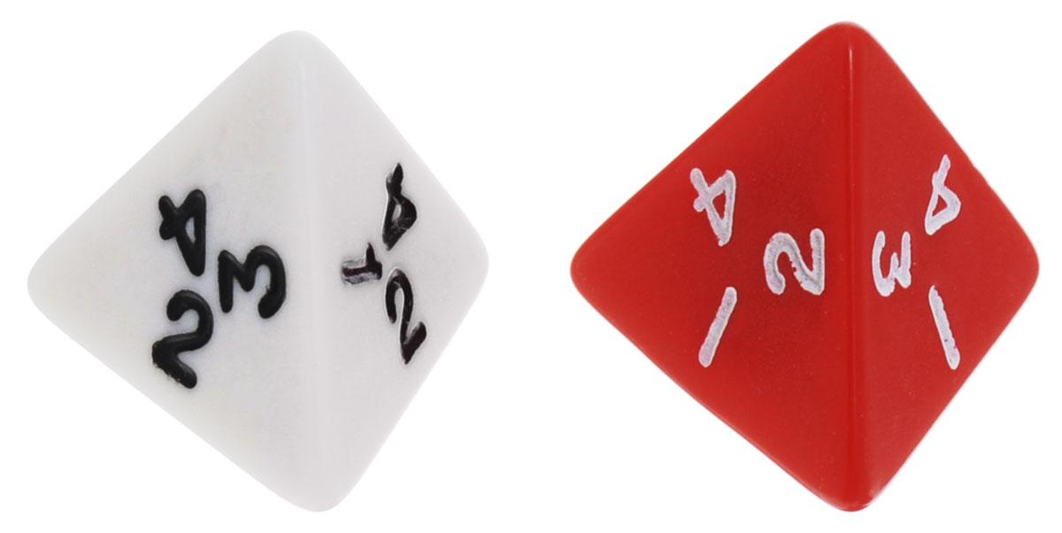 Koplow Games Набор игральных костей Простые D4 цвет красный белый 2 шт