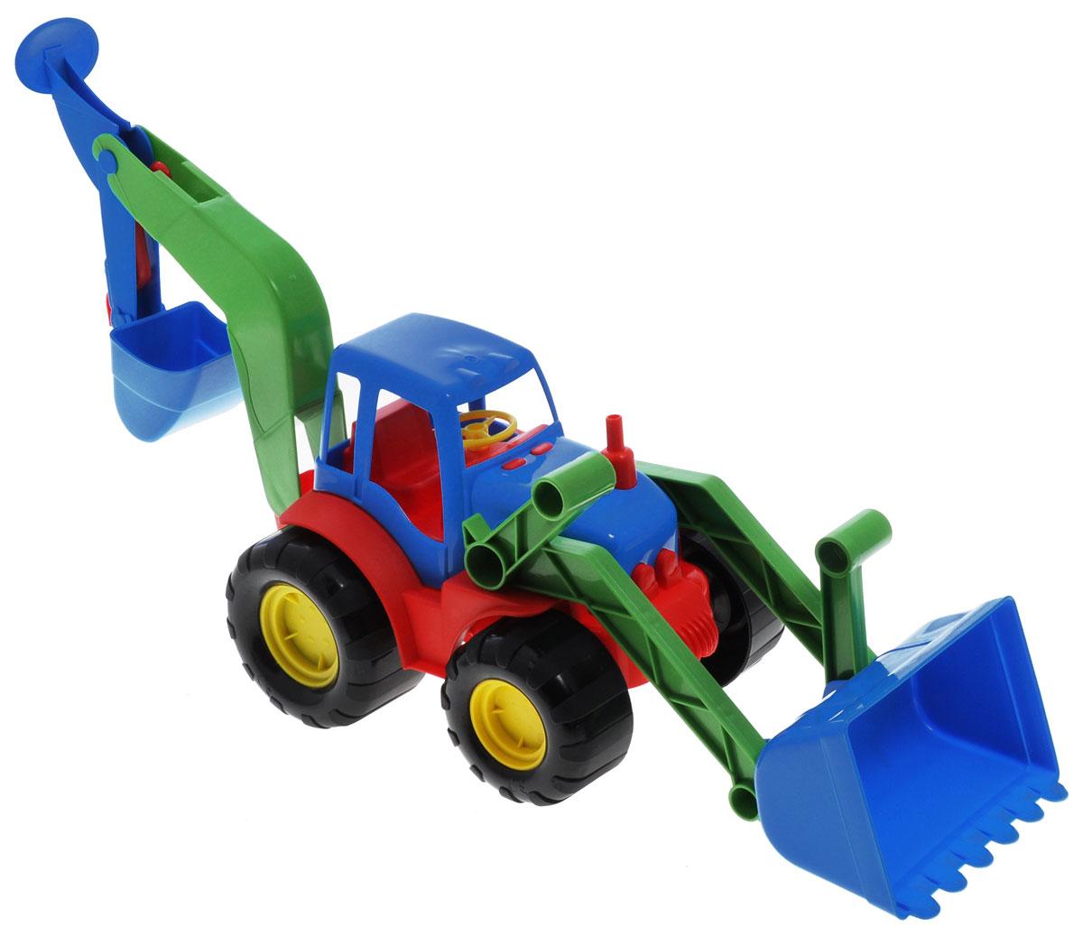 Zebratoys Экскаватор цвет синий красный зеленый15-5262Яркий экскаватор Zebratoys, изготовленный из прочного и безопасного материала, отлично подойдет ребенку для различных игр. Экскаватор - прекрасный помощник на строительной площадке. Игрушка оснащена подвижным ковшом, с помощью которого можно перемещать материалы (камушки, песок, веточки), убирать строительный мусор или расчищать площадку. Большие колеса обеспечивают экскаватору устойчивость и хорошую проходимость. Ваш юный строитель сможет прекрасно провести время дома или на улице, воспроизводя свою стройку.