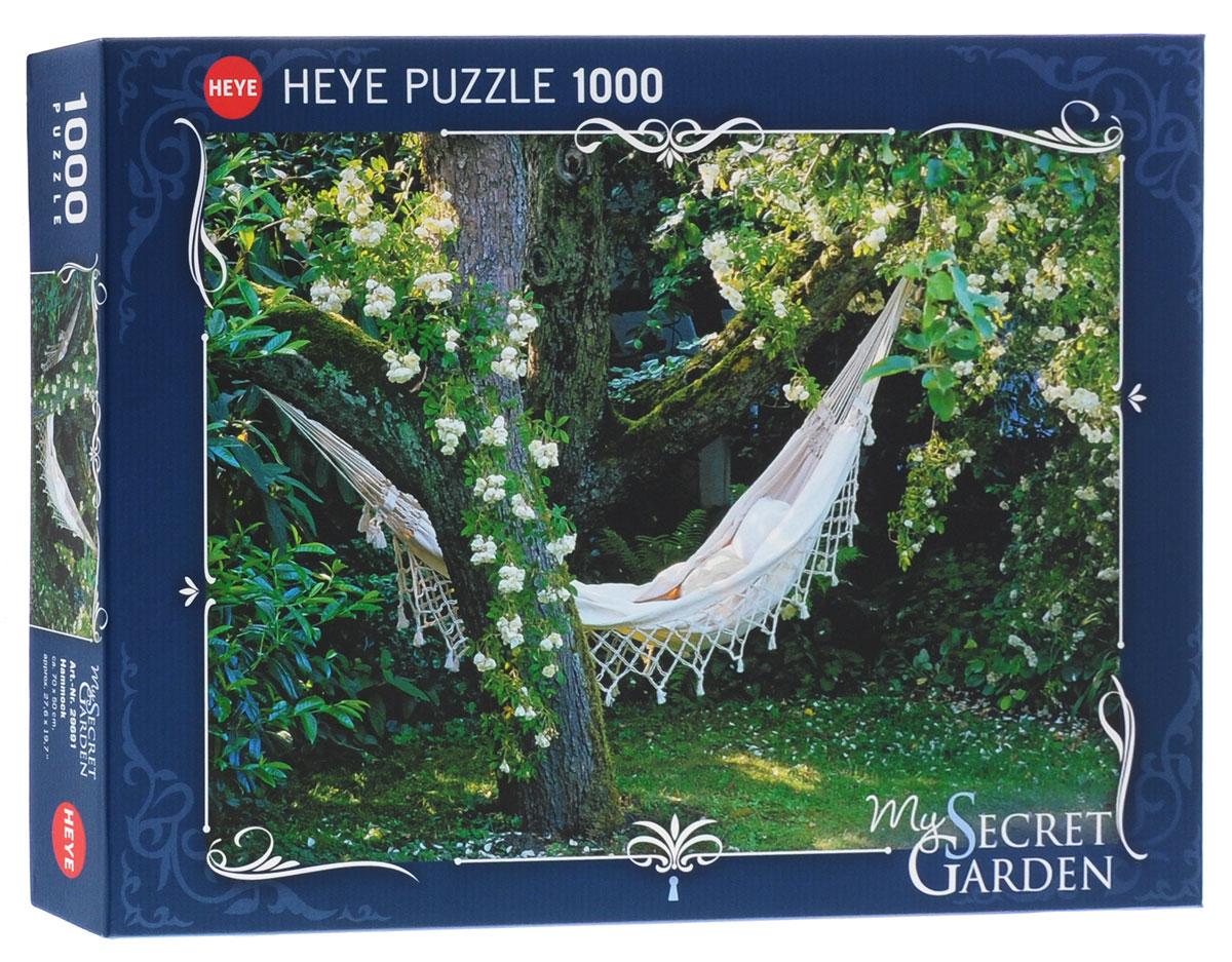 HEYE Пазл Гамак в саду29691Пазл HEYE Гамак в саду придется вам по душе. Отличительной чертой этой немецкой компании является высочайшее качество и удивительно живописные изображения. Собрав этот пазл, включающий в себя 1000 элементов, вы получите картину с изображением летнего цветущего сада. Пазлы - прекрасное антистрессовое средство для взрослых и замечательная развивающая игра для детей. Собирание пазла развивает у ребенка мелкую моторику рук, тренирует наблюдательность, логическое мышление, знакомит с окружающим миром, с цветами и разнообразными формами, учит усидчивости и терпению, аккуратности и вниманию. Собирание пазла - прекрасное времяпрепровождение для всей семьи.