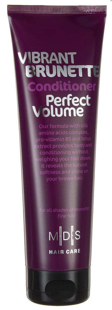 Hair Care Кондиционер для темных волос Vibrant Brunette Perfect Volume для придания объема, 250 мл803825Кондиционер с про-витамином B5 для придания объема темным волосам. Сочетание про-витамина В5, экстракта лотоса, шелкового дерева, хны и розового перца придает объем от самых корней. Аминокислоты шелка восстанавливают блеск и питают волос по всей длине, восстанавливая и придавая силу. Ультра легкая формула разделяет и смягчает волосы. Подходит для ежедневного применения. Для всех типов волос.