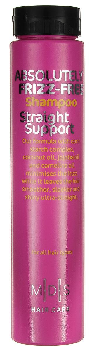 Hair Care Шампунь для вьющихся волос Absolutely Anti-Frizz Straight Support для придания гладкости, 250 мл803815Шампунь для придания гладкости непослушным и вьющимся волосам. «Салонный» эффект. Экстракт кукурузы разглаживает даже самые непослушные волосы. Комплекс из масел кокоса, жожоба и рыжикового масла в сочетании с экстрактами кукурузы и огурца разделяет волосы по всей длине, увлажняя и снимая статическое напряжение. Не утяжеляет волосы. Подходит для ежедневного применения. Для всех типов волос.