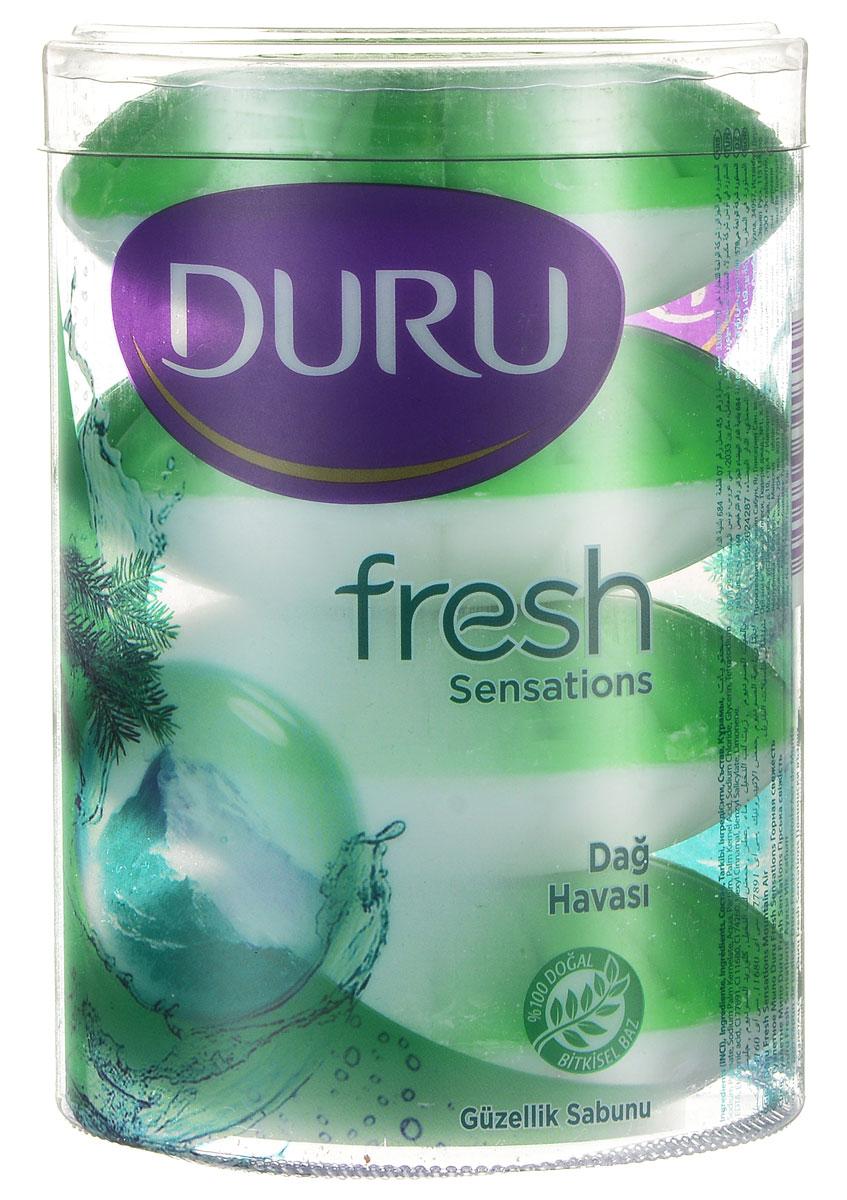 Мыло Duru Fresh  Горная свежесть, 4 шт504704_зеленый,белый