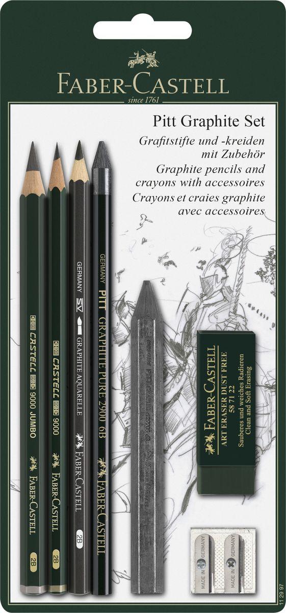 Faber-Castell Набор пастельных карандашей и мелков Pitt112997Набор Faber-Castell Pitt состоит из пастельных карандашей и мелков, а также нескольких аксессуаров: ластика и точилки на два вида карандашей. Пастельные карандаши Pitt, с грифелями без масляной основы, используются профессиональными художниками не только для корректировки рисунков нанесенными пастельными мелками, но и для создания рисунков ими же. Многие художники получают удовольствие от пастельной техники и ее многогранности. Грифель пастельных карандашей Pitt очень компактный и экономичный в использовании. Грифель имеет высокое содержание пигментов, что позволяет одинаково легко наносить рисунок и затенять его. Мелки Pitt monochrome от Faber-Castell разработаны для рисования эскизов тверже, чем обычные пастельные мелки. По этой причине, линии не исчезают полностью при смазывании рисунка. Мелки, цвета сепии и сангины на масляной и безмасляной основах, созданы для тщательных проработок линий и деталей в эскизах. Такой подарок будет незаменим как юным,...