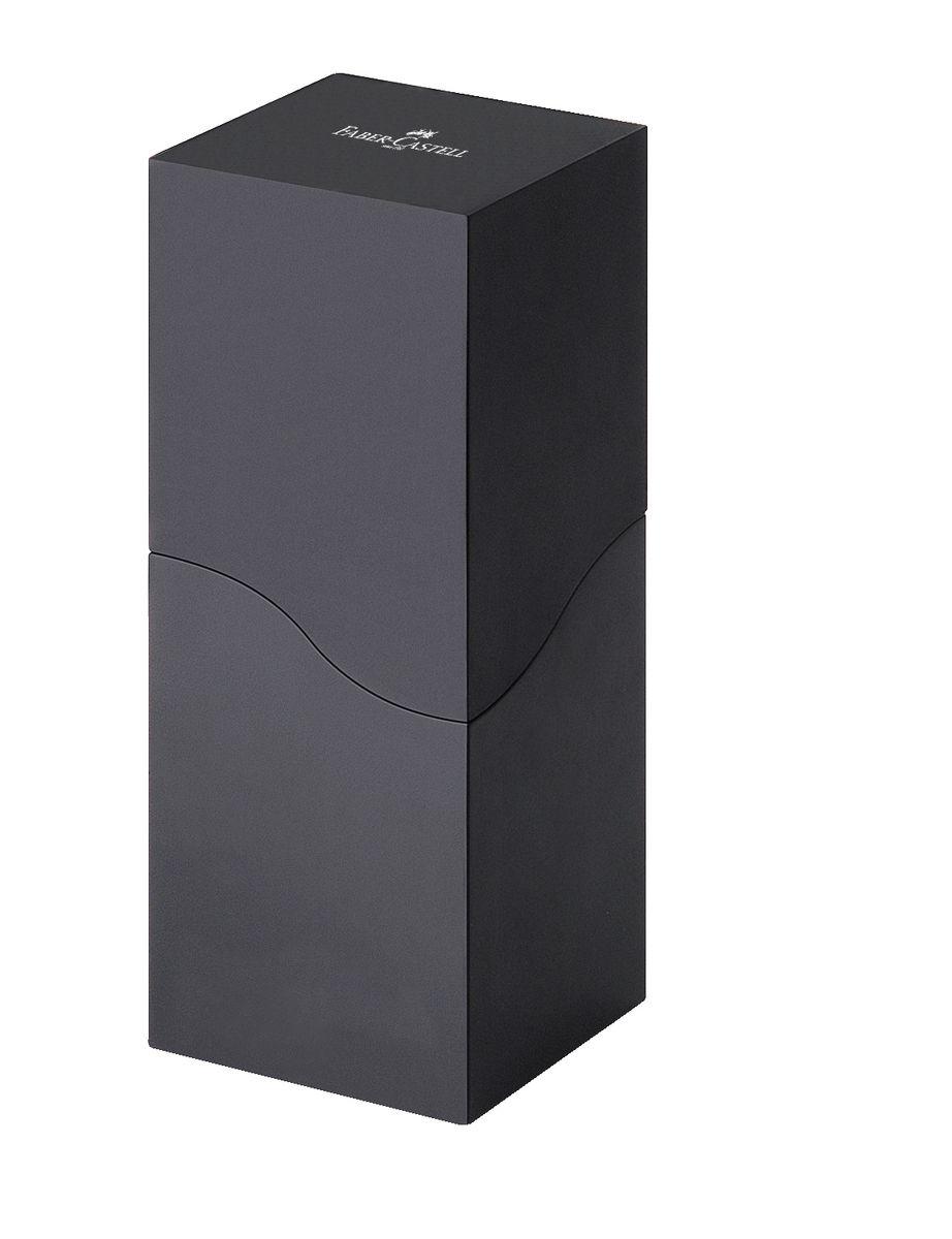 Faber-Castell Подставка пластиковая DESIGN для карандашей черная118378• элегантная стойка для карандашей из двух частей • комбинация черного матового и блестящего цвета