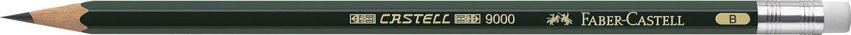 Faber-Castell Карандаш чернографитовый Castell 9000119201Чернографитовый карандаш Faber-Castell Castell 9000 предназначен не только для письма, но и для эскизов и рисования. Специальная SV технология вклеивания грифеля предотвращает его поломку при падении, а высокое качество мягкой древесины обеспечивает легкое затачивание. Такой карандаш с чистым графитом не царапает бумагу, ровно и гладко ложится, хорошо штрихует, передавая воздушность и светотени.