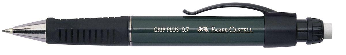 Faber-Castell Карандаш механический Grip Plus цвет корпуса темно-зеленый 130700130700Механический карандаш Faber-Castell Grip Plus - незаменимый атрибут современного делового человека дома и в офисе. Корпус карандаша круглой формы с металлическим наконечником выполнен из высококачественного пластика. Дополнен корпус удобным пластиковым держателем, трехгранной резиновой областью захвата и толстым выдвижным ластиком. Карандаш оснащен инновационной системой, предотвращающей поломку грифеля. Убирающийся внутрь кончик обеспечивает безопасное ношение карандаша в кармане. Порадуйте друзей и знакомых, оказав им столь стильный знак внимания.