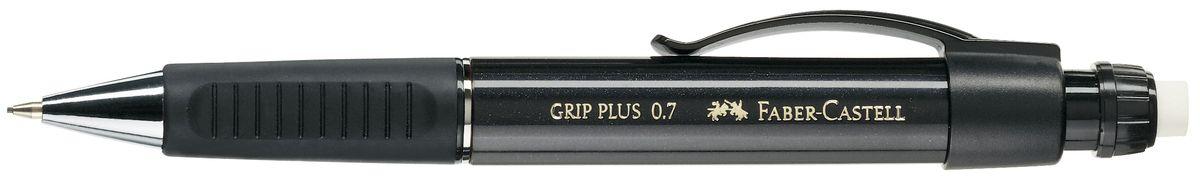 Faber-Castell Карандаш механический Grip Plus цвет корпуса черный 130733130733Механический карандаш Faber-Castell Grip Plus - незаменимый атрибут современного делового человека дома и в офисе. Корпус карандаша круглой формы с металлическим наконечником выполнен из высококачественного пластика. Дополнен корпус удобным пластиковым держателем, трехгранной резиновой областью захвата и толстым выдвижным ластиком. Карандаш оснащен инновационной системой, предотвращающей поломку грифеля. Убирающийся внутрь кончик обеспечивает безопасное ношение карандаша в кармане. Порадуйте друзей и знакомых, оказав им столь стильный знак внимания.