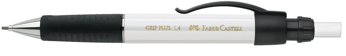 Faber-Castell Карандаш механический Grip Plus цвет корпуса белый 131401131401Механический карандаш Faber-Castell Grip Plus - незаменимый атрибут современного делового человека дома и в офисе. Корпус карандаша круглой формы с металлическим наконечником выполнен из высококачественного пластика. Дополнен корпус удобным пластиковым держателем, трехгранной резиновой областью захвата и толстым выдвижным ластиком. Карандаш оснащен инновационной системой, предотвращающей поломку грифеля. Убирающийся внутрь кончик обеспечивает безопасное ношение карандаша в кармане. Порадуйте друзей и знакомых, оказав им столь стильный знак внимания.