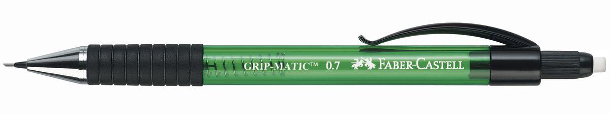 Faber-Castell Карандаш механический Grip-Matic цвет корпуса зеленый 137763137763Механический карандаш Faber-Castell Grip-Matic - незаменимый атрибут современного делового человека дома и в офисе. Корпус карандаша круглой формы выполнен из высококачественного пластика и дополнен резиновой областью захвата и длинным выдвижным ластиком. Карандаш оснащен инновационной системой, позволяющей грифелю выдвигаться в зависимости от письма в оптимальном объеме. Мягкое комфортное письмо и тонкие линии при написании принесут вам максимум удовольствия. Порадуйте друзей и знакомых, оказав им столь стильный знак внимания.