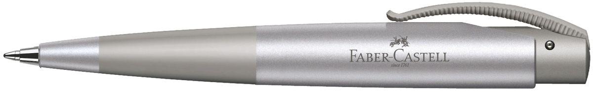 Faber-Castell Ручка шариковая Conic цвет корпуса серебристый142811Шариковая ручка Faber-Castell Conic эргономичной формы станет незаменимым атрибутом учебы или работы. Корпус ручки выполнен из пластика и оснащен приятной антискользящей областью захвата. Высококачественные чернила позволяют добиться идеальной плавности письма. Ручка оснащена упругим клипом для удобной фиксации на бумаге или одежде.