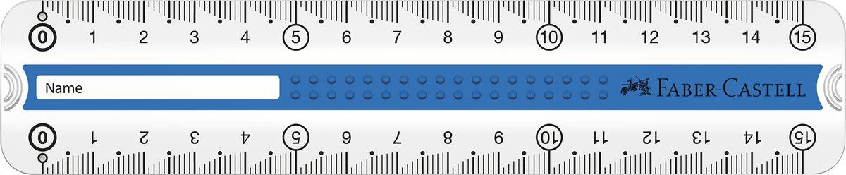 Faber-Castell линейка GRIP 15 см цвет синий пластмассовый чехол171016прозрачные двухсторонние линейки с Grip дизайном • 3D Grip-зона для удобного захват • идеально подходит для левшей и правшей • скошенные края для удобного захвата линейки • скошенные углы линейки • доступна в сером, зеленом и синем цвете