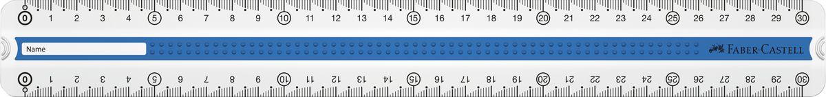 Faber-Castell линейка GRIP 30 см зеленая синяя пластмассовый чехол171031прозрачные двухсторонние линейки с Grip дизайном • 3D Grip-зона для удобного захват • идеально подходит для левшей и правшей • скошенные края для удобного захвата линейки • скошенные углы линейки • доступна в сером, зеленом и синем цвете