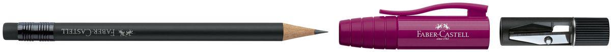 Faber-Castell Карандаш чернографитовый Perfect Pencil II цвет корпуса бордовый 182934