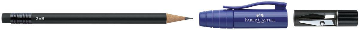 Faber-Castell Карандаш чернографитовый Perfect Pencil II цвет корпуса синий182951Карандаш чернографитовый Faber-Castell Perfect Pencil II - незаменимый атрибут современного делового человека дома и в офисе. Корпус карандаша имеет колпачок с прочным клипом, который защищает кончик карандаша и одновременно удлиняет его встроенной точилкой. Карандаш оснащен инновационной системой, предотвращающей поломку грифеля. Порадуйте друзей и знакомых, оказав им столь стильный знак внимания.