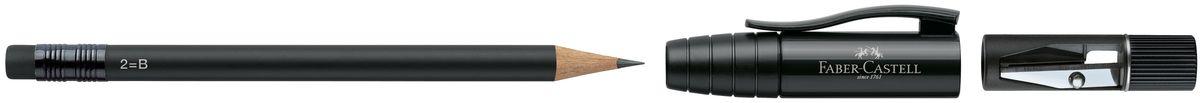 Faber-Castell Карандаш чернографитовый Perfect Pencil II цвет корпуса черный182999Карандаш чернографитовый Faber-Castell Perfect Pencil II - незаменимый атрибут современного делового человека дома и в офисе. Корпус карандаша имеет колпачок с прочным клипом, который защищает кончик карандаша и одновременно удлиняет его встроенной точилкой. Карандаш оснащен инновационной системой, предотвращающей поломку грифеля. Порадуйте друзей и знакомых, оказав им столь стильный знак внимания.