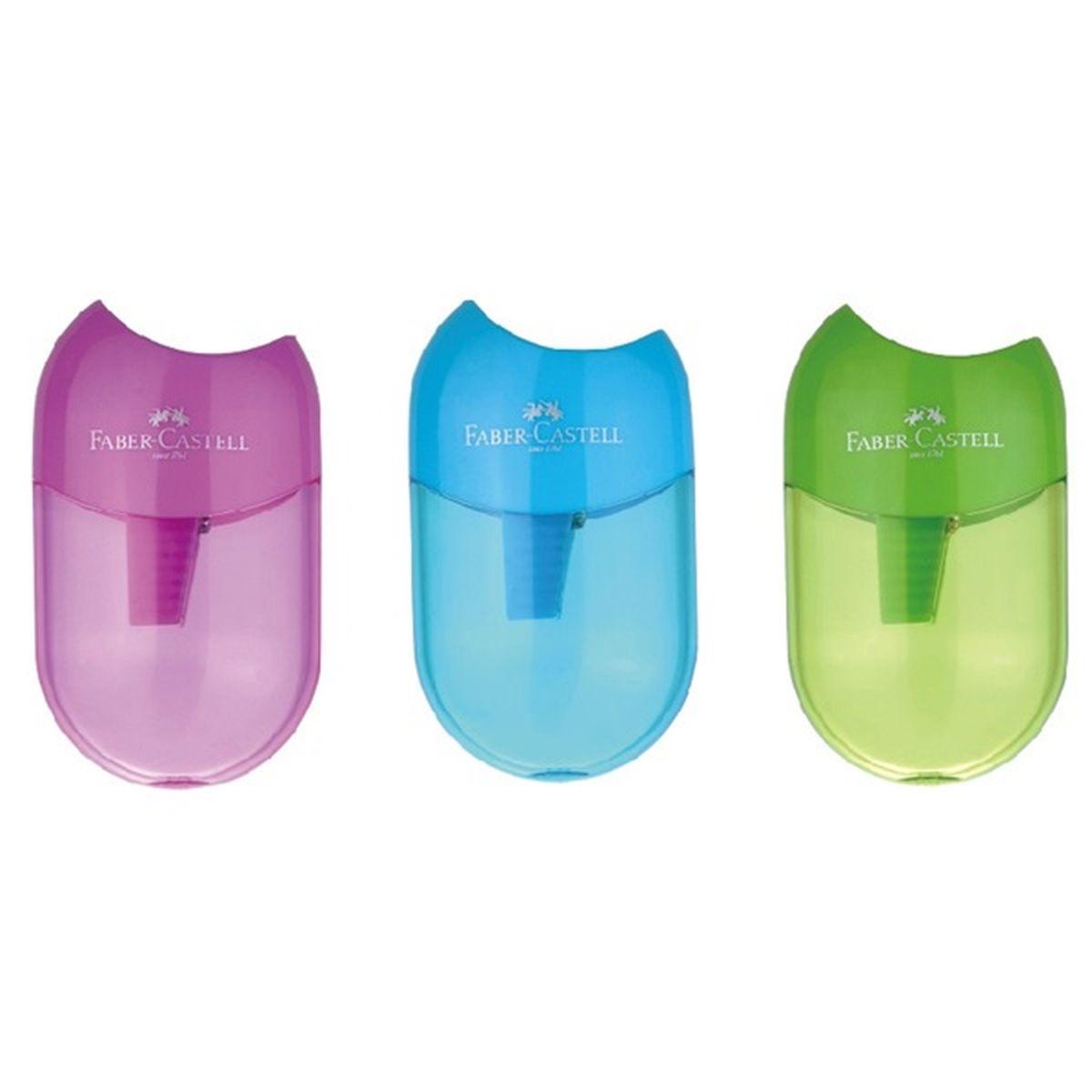 Faber-Castell Точилка-мини с контейнером набор цветов цвет синий