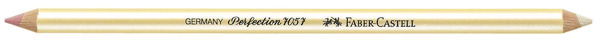 Faber-Castell Корректор-карандаш Perfection 7057 двухсторонний185712Корректирующий двухсторонний карандаш Faber-Castell Perfection отлично подойдет для точного стирания мелких деталей. Белый твердый корректор легко справляется со следами туши и чернил, розовый мягкий - со следами графитного грифеля и угля. Правильный подбор корректора и, разумеется, его качество имеет решающее значение для достижения нужного результата.