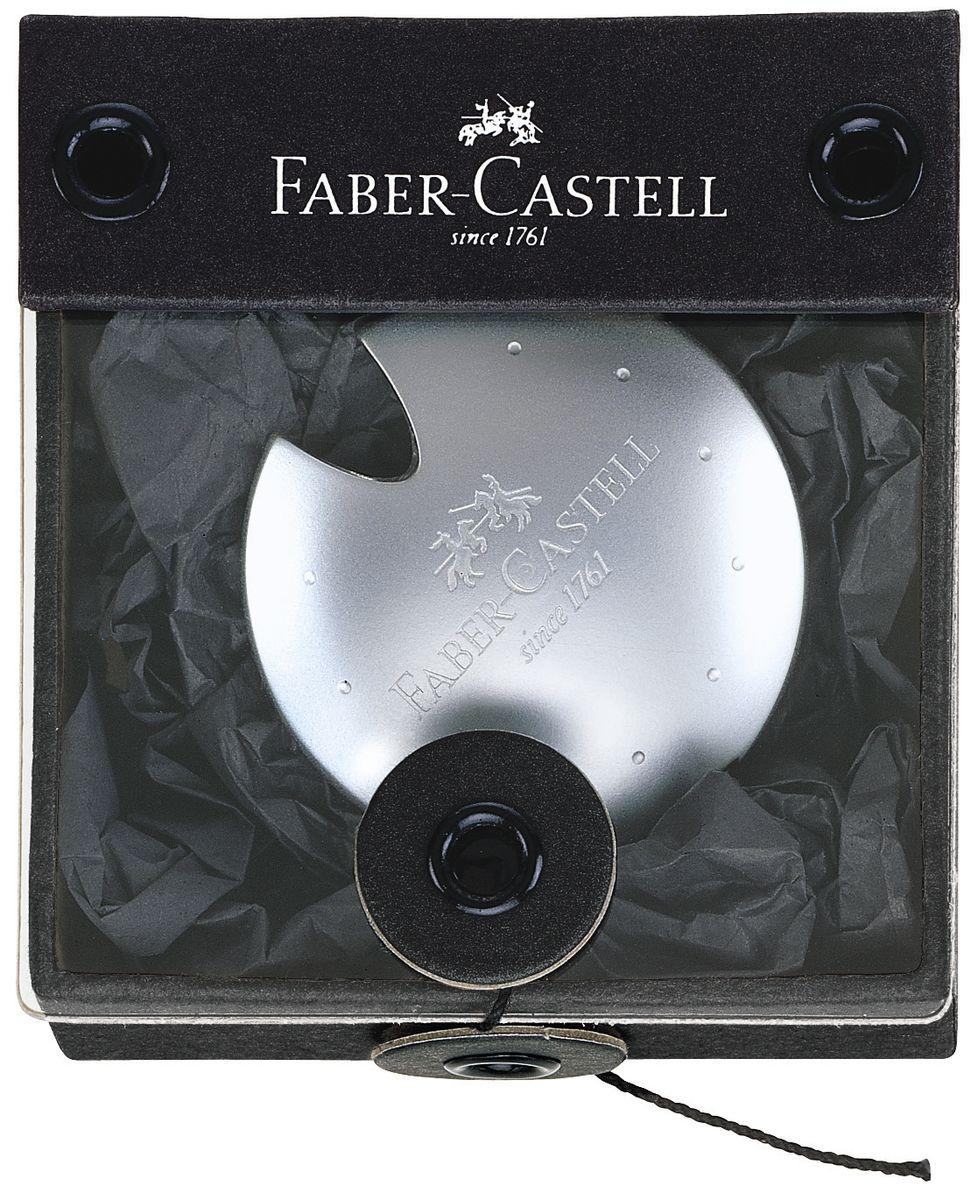 Faber-Castell Точилка Ufo188305Точилка Faber-Castell Ufo - высококачественная точилка из хромированного полированного металла. Элегантный дизайн делает точилку прекрасным подарком. Безукоризненное сменное лезвие для стандартных карандашей.