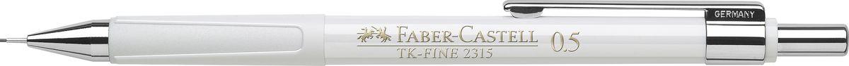 Faber-Castell Карандаш механический TK-Fine цвет корпуса белый 231501231501Механический карандаш Faber-Castell TK-Fine идеален для письма и черчения. Корпус карандаша круглой формы выполнен из высококачественного пластика. Убирающийся внутрь кончик обеспечивает безопасное ношение карандаша в кармане. Отличительная особенность - качественный ластик и 3 запасных грифеля HB. Мягкое комфортное письмо и тонкие линии при написании принесут вам максимум удовольствия. Порадуйте друзей и знакомых, оказав им столь стильный знак внимания.