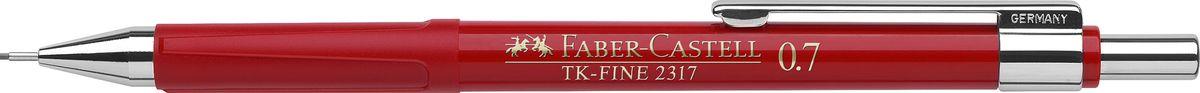 Faber-Castell Карандаш механический TK-Fine цвет корпуса красный 231721231721Механический карандаш Faber-Castell TK-Fine идеален для письма и черчения. Корпус карандаша круглой формы выполнен из высококачественного пластика. Убирающийся внутрь кончик обеспечивает безопасное ношение карандаша в кармане. Отличительная особенность - качественный ластик и 3 запасных грифеля HB. Мягкое комфортное письмо и тонкие линии при написании принесут вам максимум удовольствия. Порадуйте друзей и знакомых, оказав им столь стильный знак внимания.