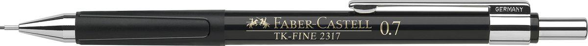 Faber-Castell Карандаш механический TK-Fine цвет корпуса черный 231799231799Механический карандаш Faber-Castell TK-Fine идеален для письма и черчения. Корпус карандаша круглой формы выполнен из высококачественного пластика. Убирающийся внутрь кончик обеспечивает безопасное ношение карандаша в кармане. Отличительная особенность - качественный ластик и 3 запасных грифеля HB. Мягкое комфортное письмо и тонкие линии при написании принесут вам максимум удовольствия. Порадуйте друзей и знакомых, оказав им столь стильный знак внимания.