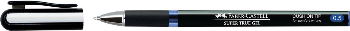 Faber-Castell Ручка-роллер Super True Gel синяя549051Ручка-роллер Super True Gel с тонким наконечником 0.5 мм. У ручки очень мягкое письмо, водостойкие и светостойкие чернила, пригодные для письма на документах. Эргономичная зона захвата, имеется колпачок с упругим клипом.