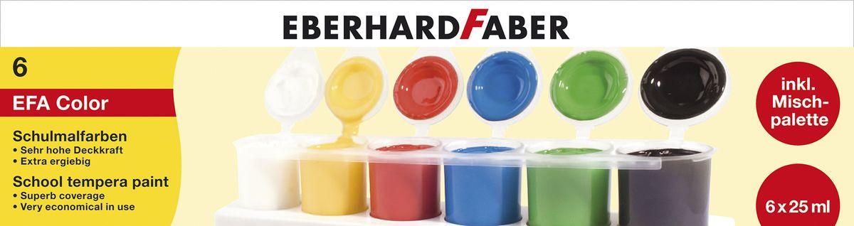 Eberhard Faber Набор пальчиковых красок Tempera для школьника 6*25 мл в картон коробке575506