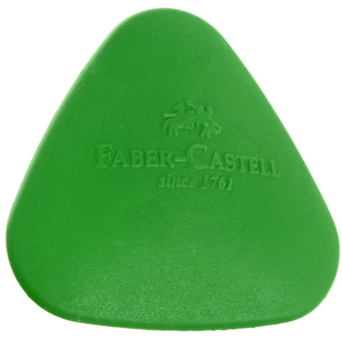 Faber-Castell Ластик формованный треугольный цвет зеленый