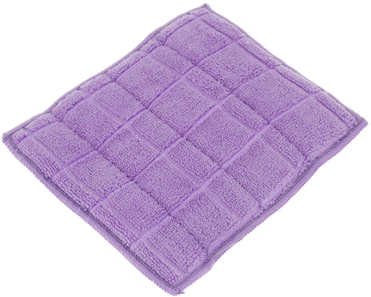 Салфетка для стеклокерамики Хозяюшка Мила, цвет: серебристый, белый, фиолетовый, 23 х 17 см. 0402404024-150_серебристый, белый, фиолетовыйСалфетка для стеклокерамики Хозяюшка Мила предназначена для очистки стеклокерамики от пыли, пятен, жира, копоти, а также для полировки и придания блеска без царапин. Для бережного ухода и качественной очистки салфетка является двусторонней и обладает двойным действием. Шероховатая сторона салфетки разработана для качественной очистки поверхности плиты от загрязнений. Гладкая сторона салфетки полирует поверхность, придавая ей блеск. Материал: 80% полиэстер, 20% полиамид. Размер салфетки: 23 х 17 см.
